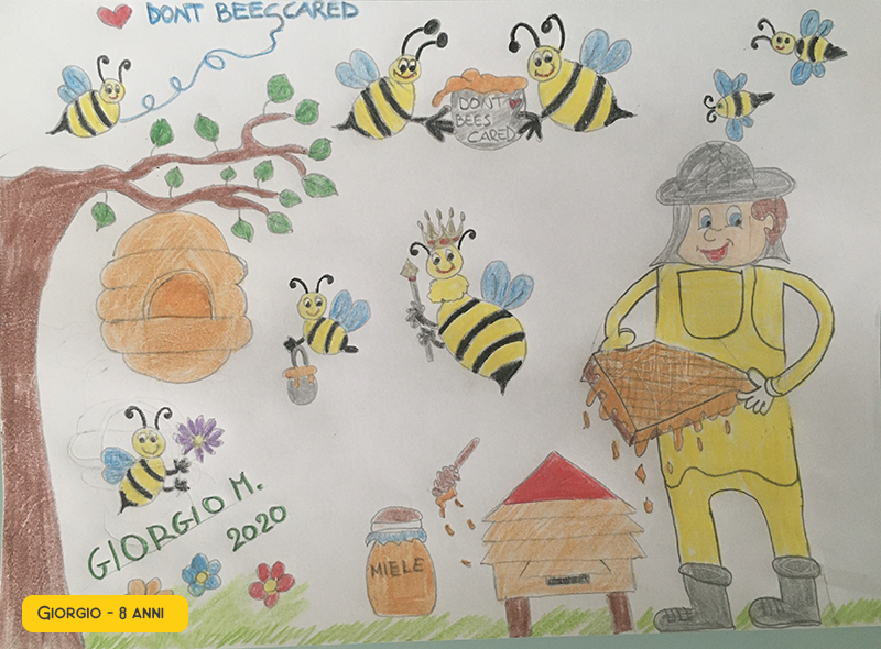 api ed apicoltori per il miele